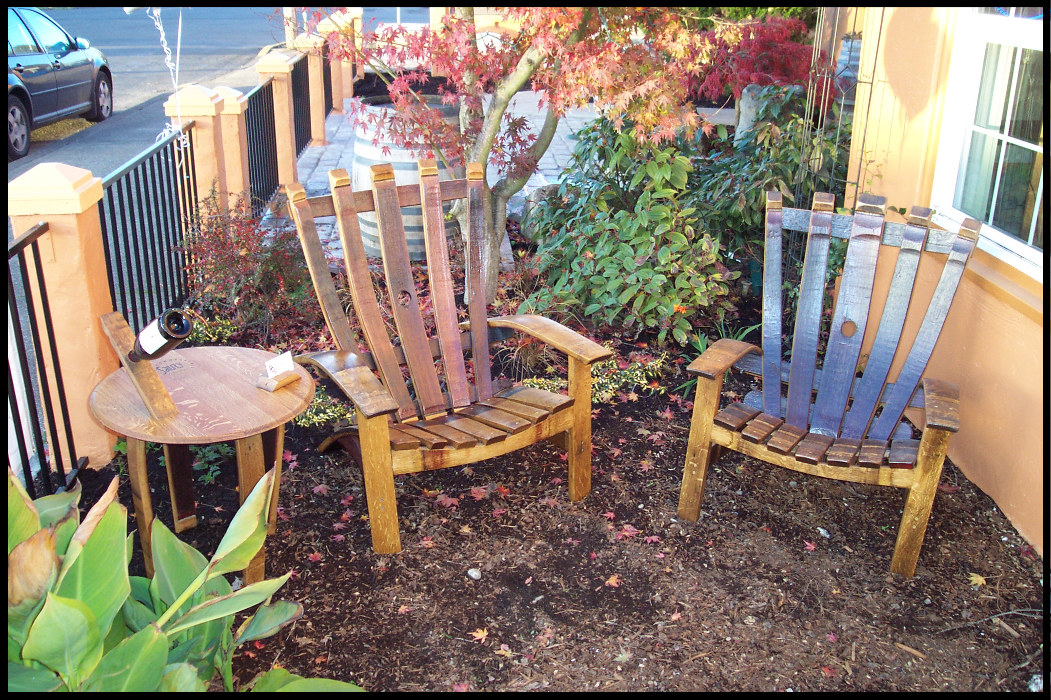 steps to making a wine barrel rocking chair